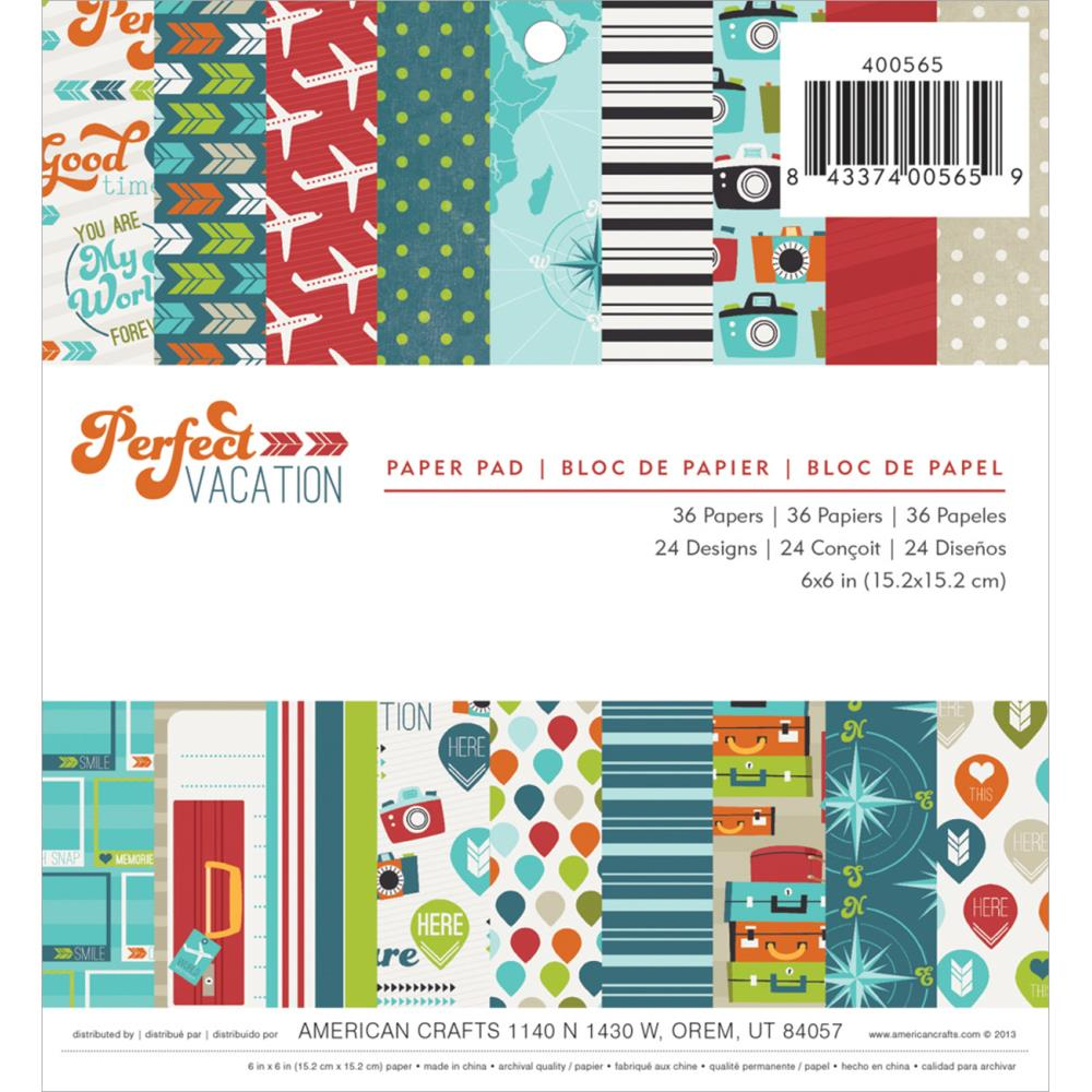 American Crafts - Perfect Vacation - pad papierów 15x15