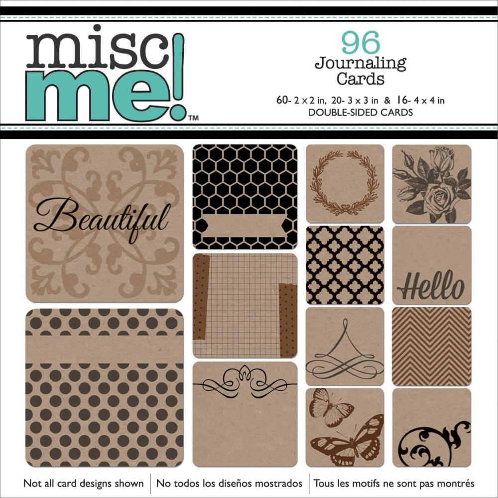 Bo Bunny - Misc Me! Journaling Cards - Kraft Squares