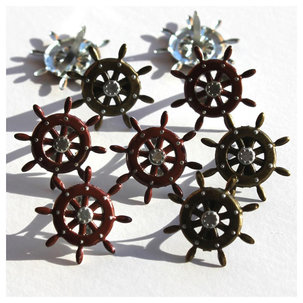 Eyelet Shape Brads - ćwieki - Ship Wheel