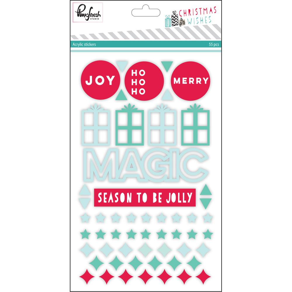 Pinkfresh Studio - Christmas Wishes - Acrylic Stickers