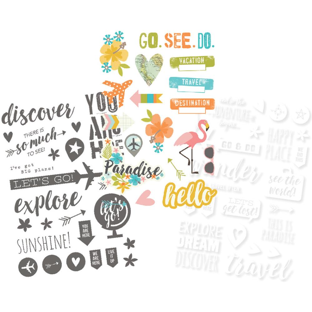 Simple Stories - You Are Here - Photo Stickers