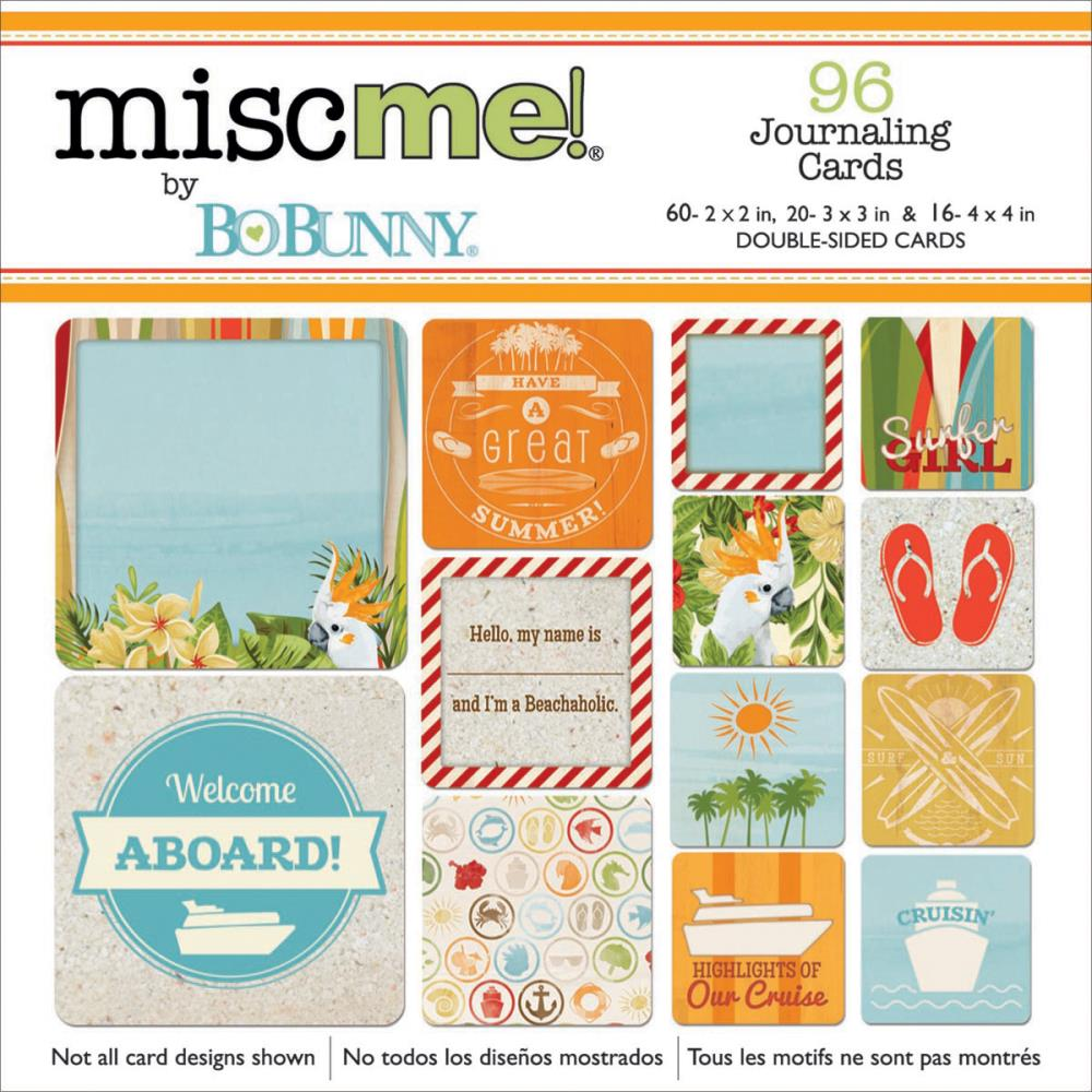 Bo Bunny - Misc me! Journaling Cards - Beach Therapy