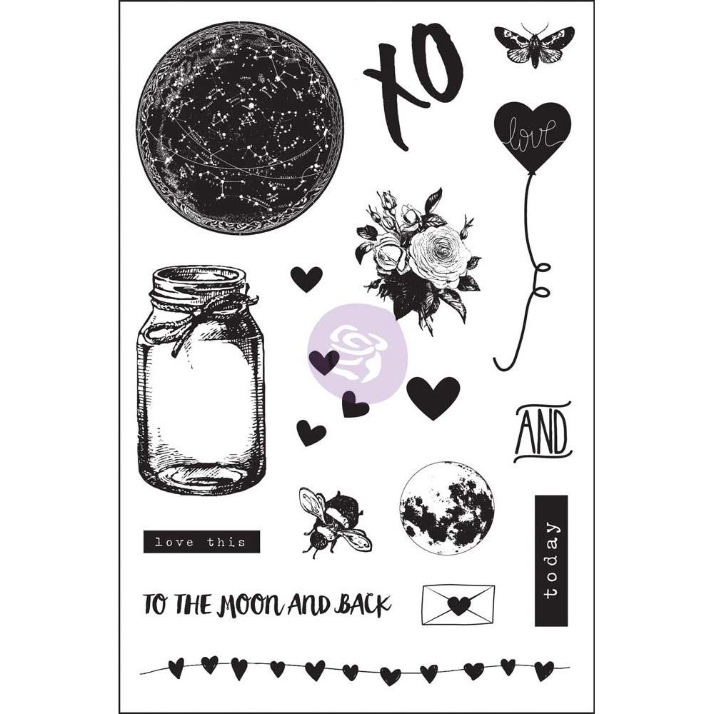 Prima - Love Clippings - Cling Stamps