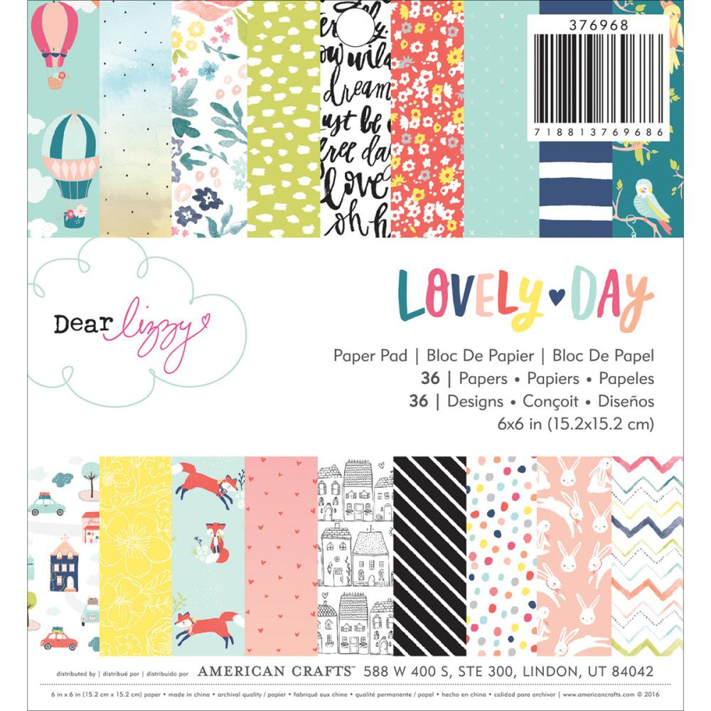 American Crafts - Dear Lizzy - Lovely Day - pad papierów 6
