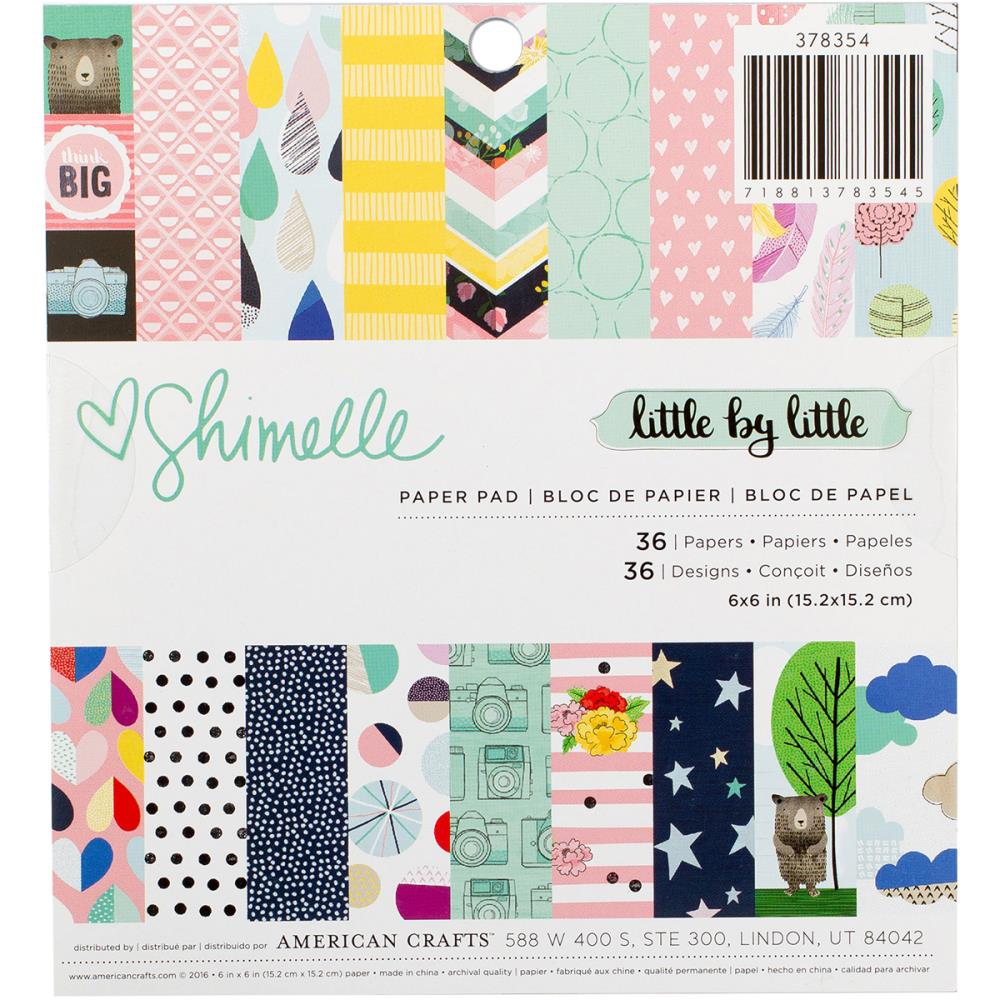 American Crafts- Shimelle - Little by Little - pad papierów 6x6