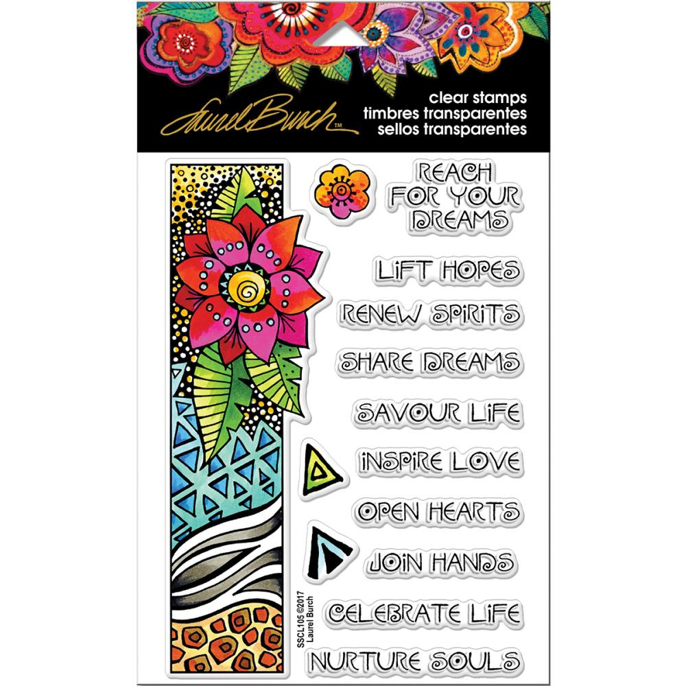 Stampendous - Laurel Burch - Flora Wishes - Stemple