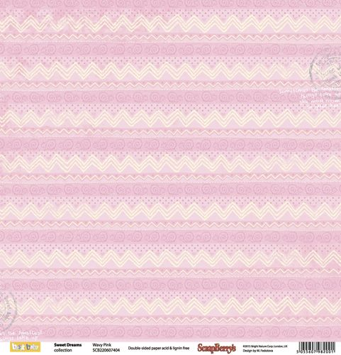 ScrapBerry's - Sweet Dreams - Wavy Pink