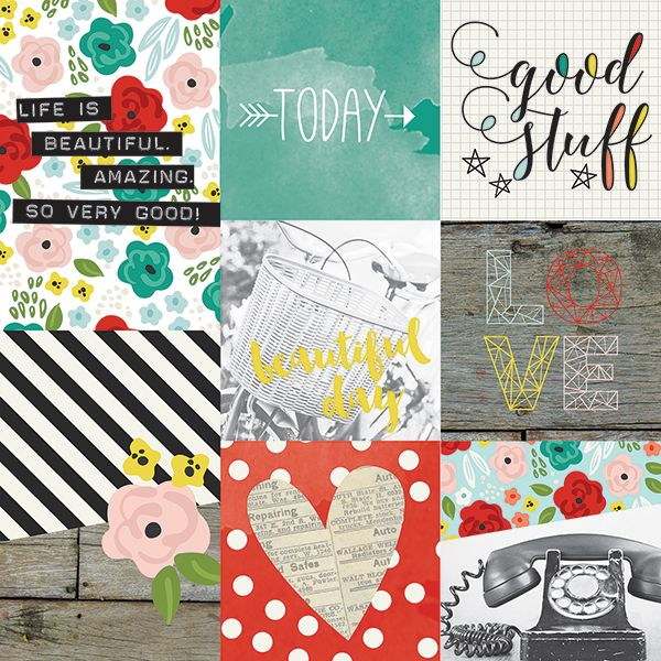 Simple Stories - Life In Color - 4x4 & 4x6 Journaling Cards
