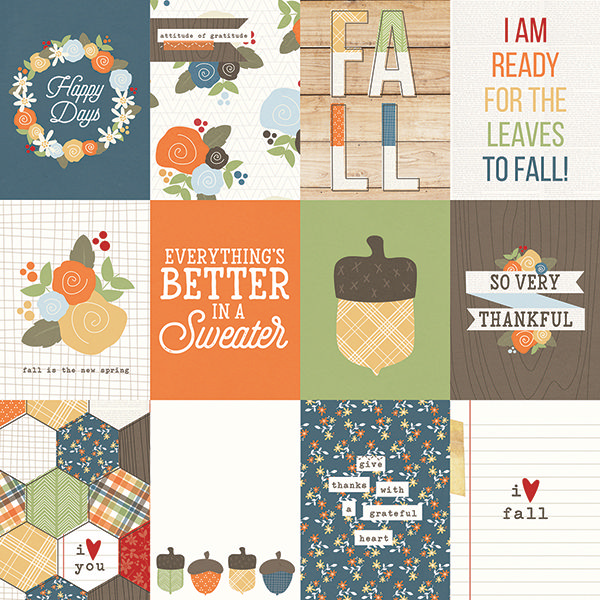 Simple Stories - Hello Fall - 3x4 Journaling Cards