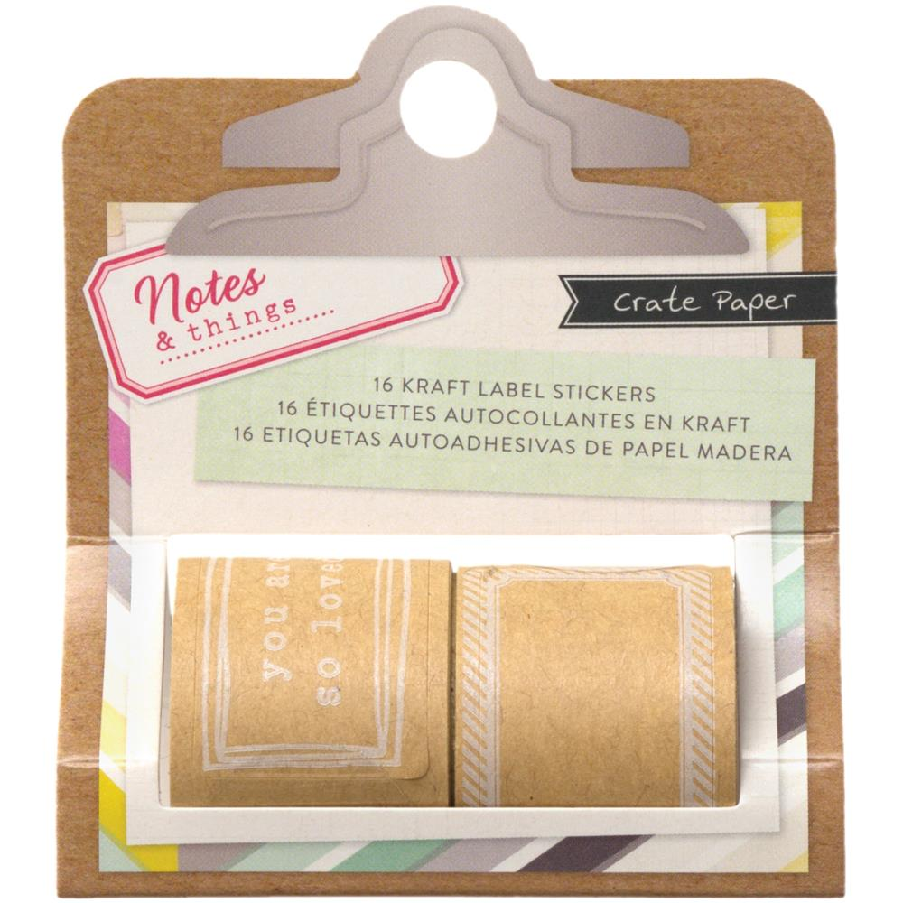 Crate Paper - Notes & Things - Kraft Label Stickers
