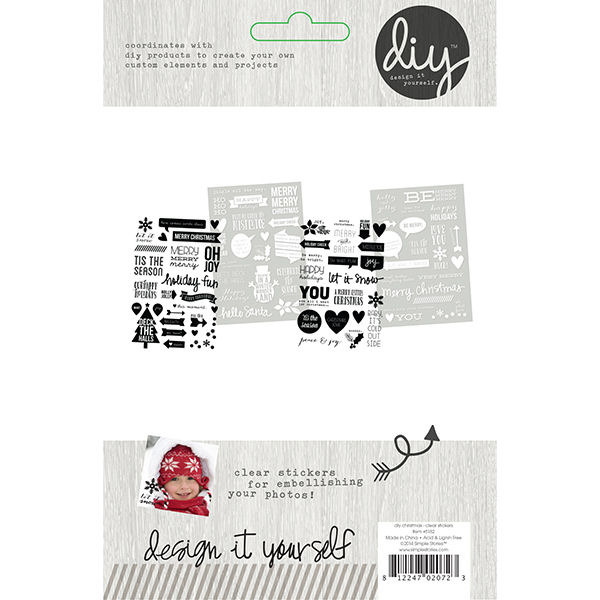 Simple Stories - DIY Christmas - Clear Stickers