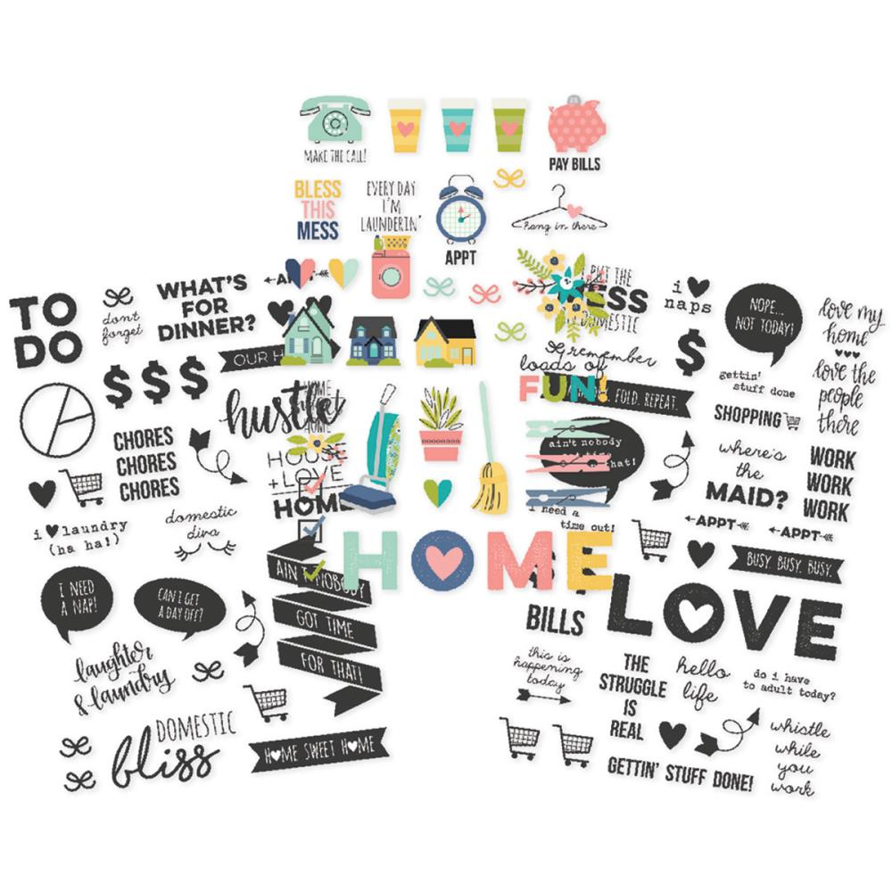 Simple Stories - Domestic Bliss - Clear Stickers