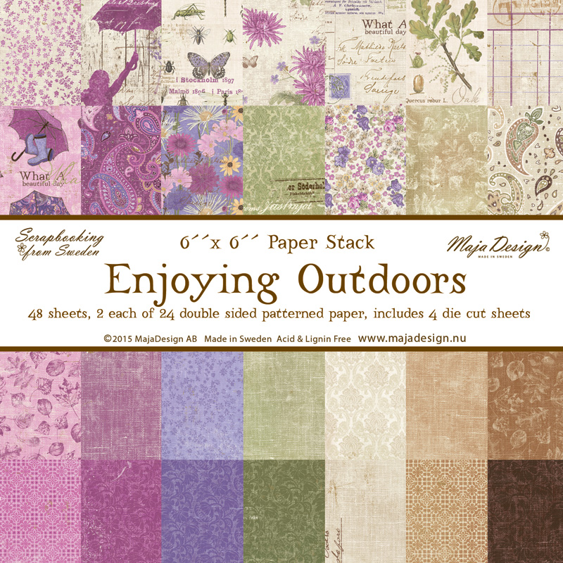 Maja Design - Enjoying Outdoors - pad papierów 6x6 cali