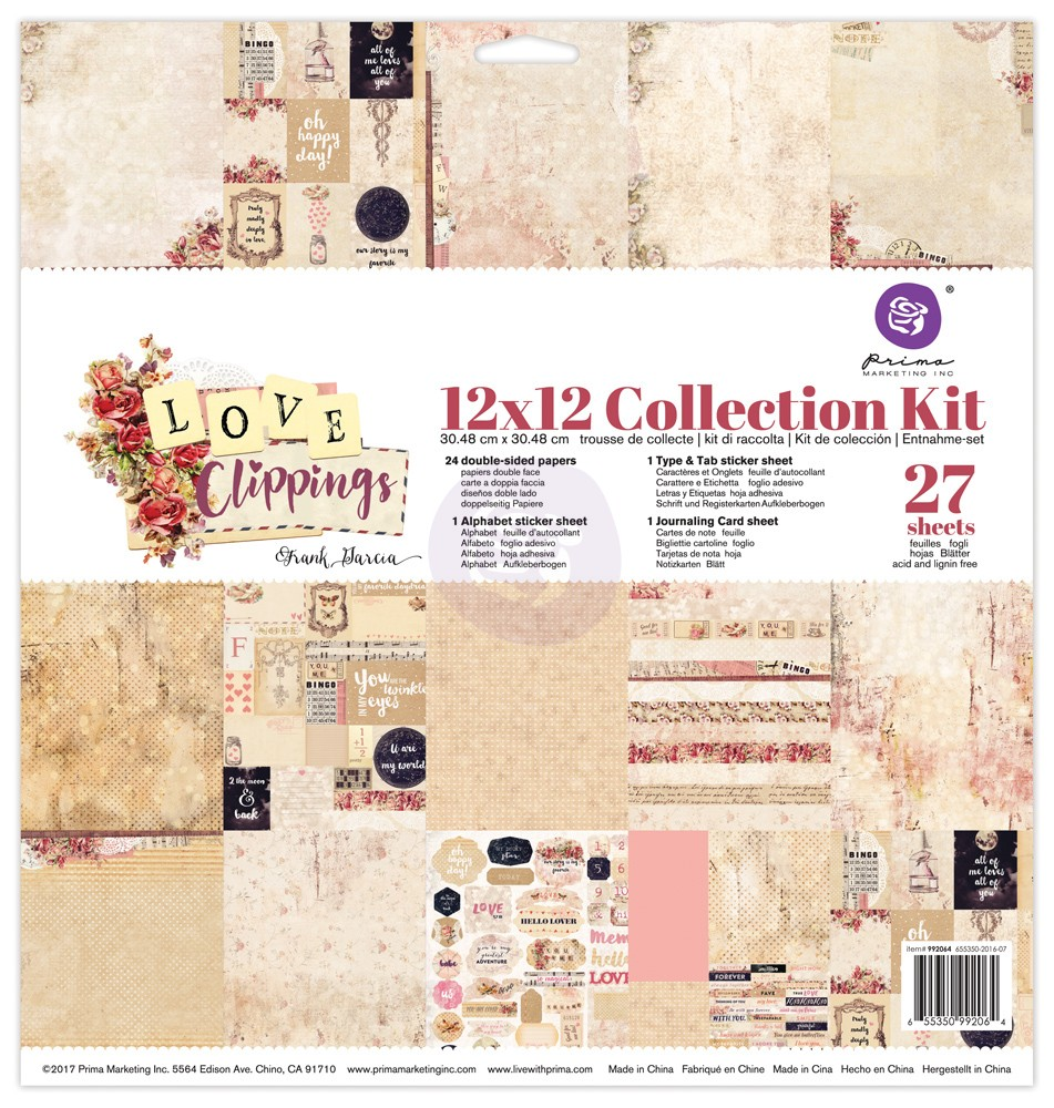 Prima - Love Clippings - Collection Kit