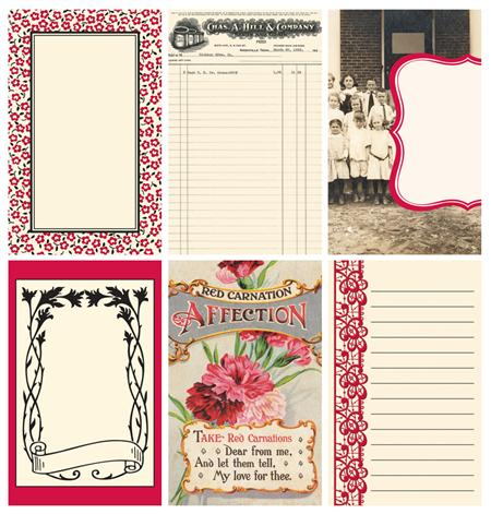 Jenni Bowlin - Extension Line - Red Black Journaling Cards