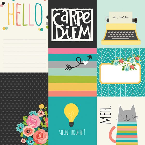 Simple Stories - Carpe Diem - 4x4 & 4x6 Vertical Elements