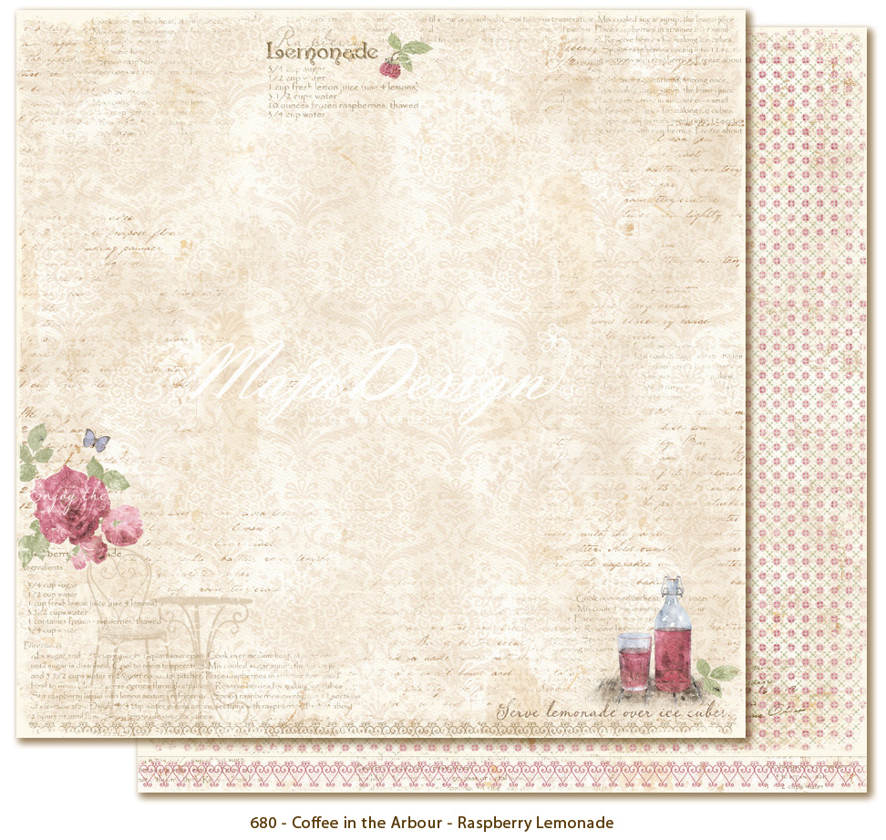 Maja Design - Coffee in the Arbour - Raspberry lemonade