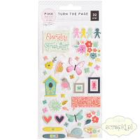 Pink Paislee - Turn the Page - puffy stickers
