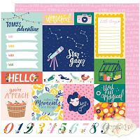 American Crafts - Dear Lizzy - Star Gazer - papier 12x12