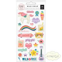 Pink Paislee - Wild Child - puffy stickers