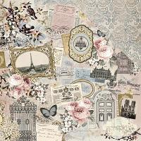 Kaisercraft - Romantique Collection - Parisian - papier 12x12