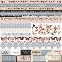 Kaisercraft - Romantique Collection - naklejki 12x12