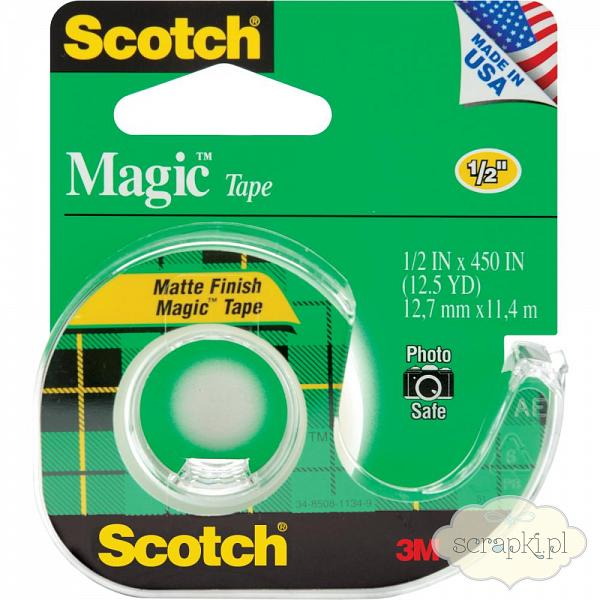 Scotch - taśma klejąca Magic Tape 12,7mmx11,4m
