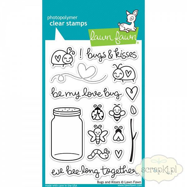 Lawn Fawn - Bugs and Kisses - stempel polimerowy