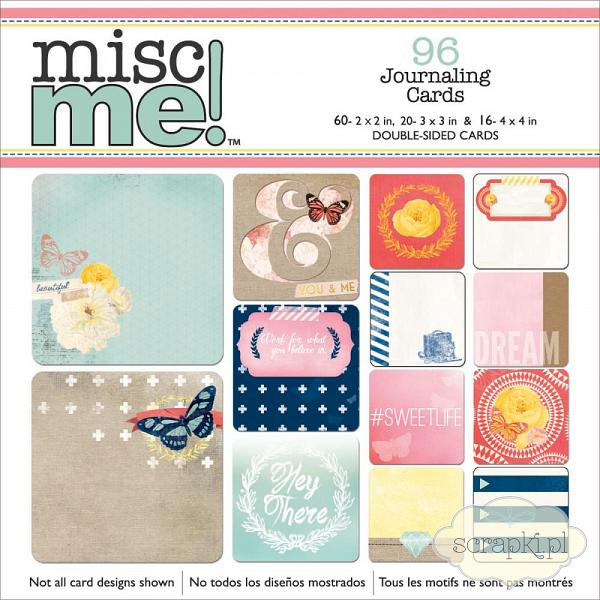 Bo Bunny - Misc Me! Journaling Cards - Sweet Life