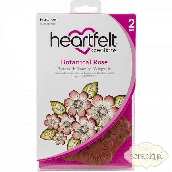 Heartfelf Creations - Botanical Rose - zestaw stempli