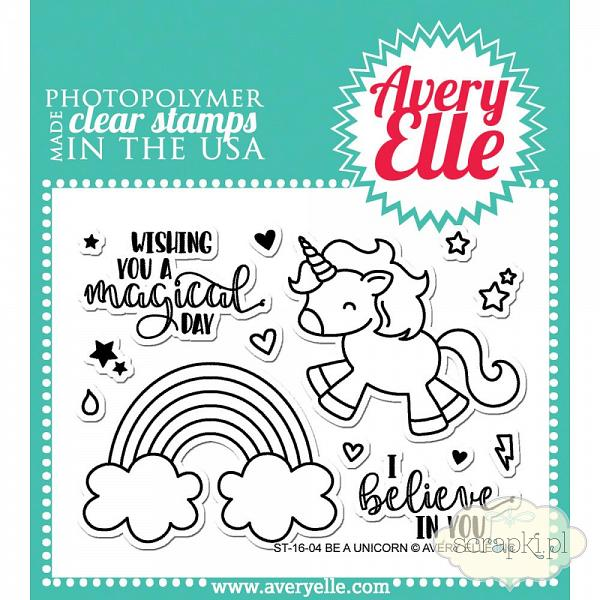 Avery Elle - Be a Unicorn - zestaw stempli