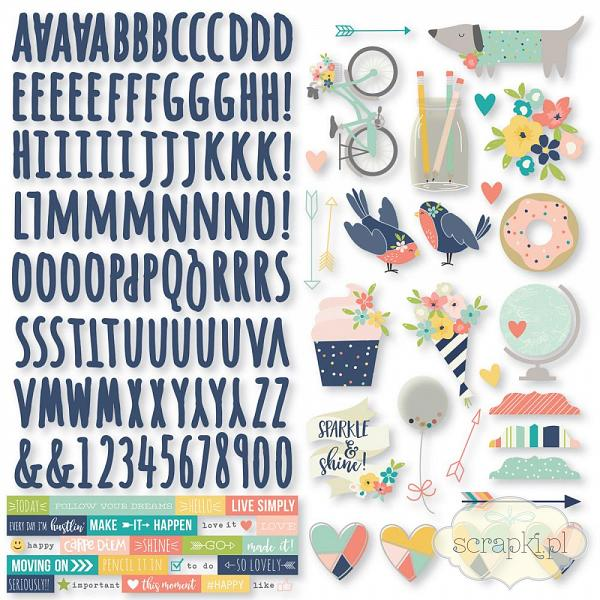 Simple Stories- Posh - Combo Stickers