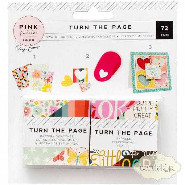 Pink Paislee - Turn the Page - karty 2x2 cale