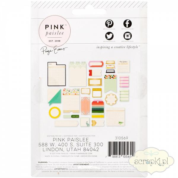 Pink Paislee - Turn the Page - etykiety do journalingu 1