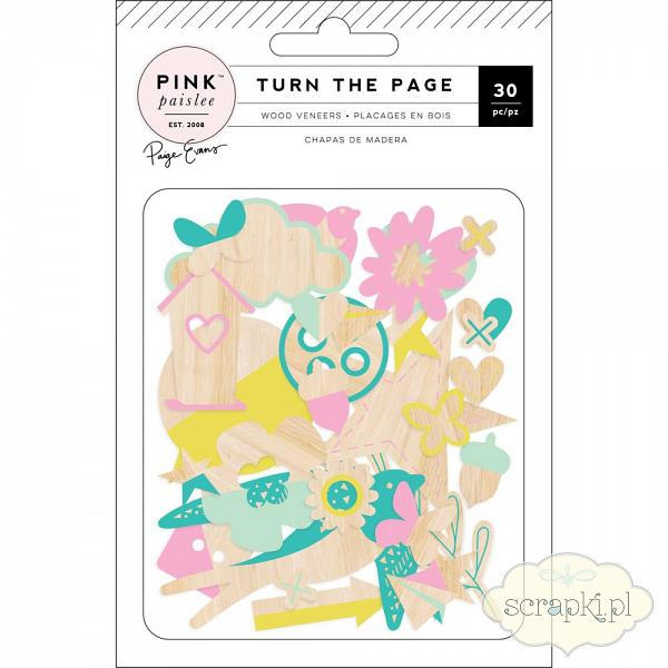 Pink Paislee Turn the Page - Wood Veneers