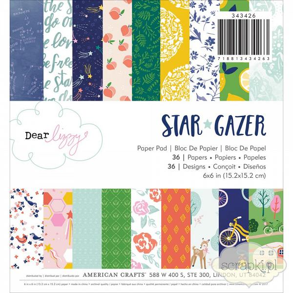 American Crafts - Dear Lizzy - Star Gazer - papier 6x6