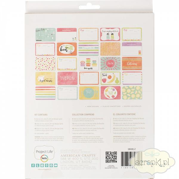 Project Life - Recipe Cards - value kit 1