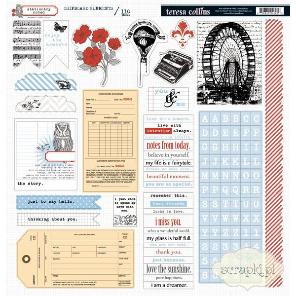 Teresa Collins - Stationery Noted - 12x12 chipboardy