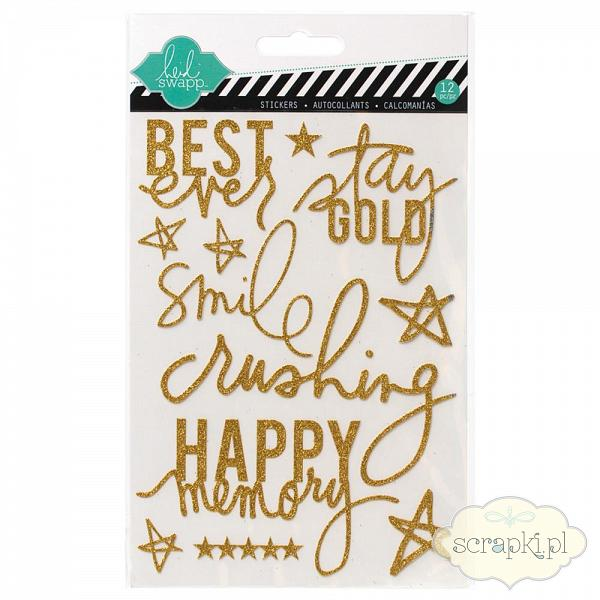 Heidi Swapp - Glitter Stickers Gold