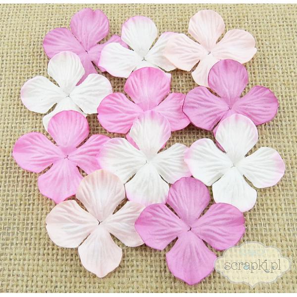 Hortensje mix różowy (25mm) - 10 sztuk